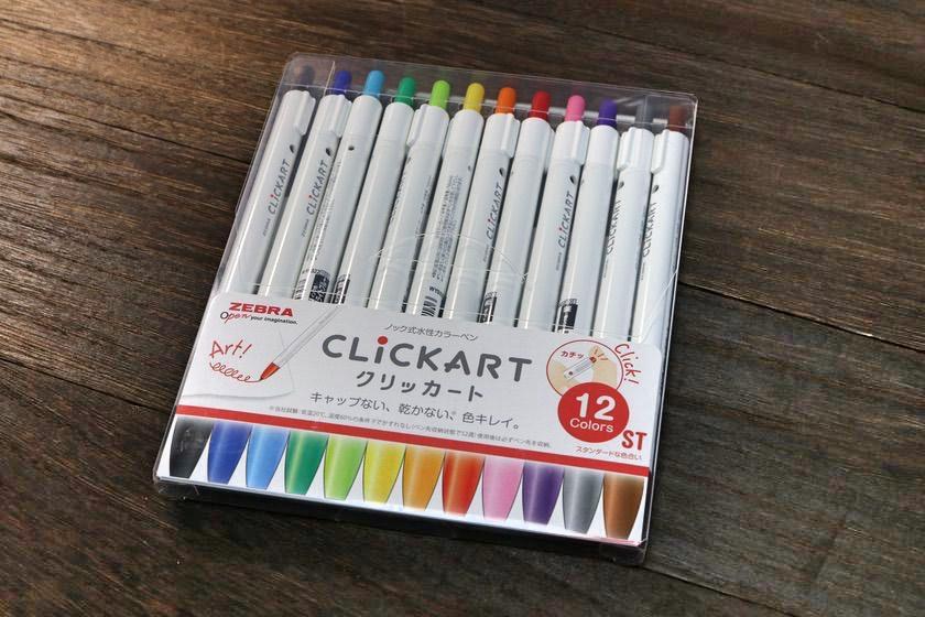 ZEBRA(ゼブラ)クリッカート ST(スタンダードな色合い)12色セット