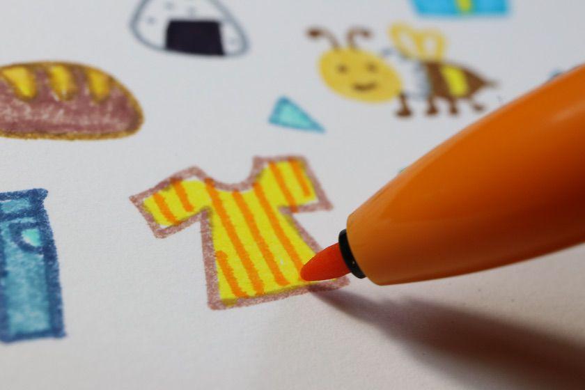 ZEBRA(ゼブラ)クリッカート でイラスト。色を重ねても綺麗に描ける。