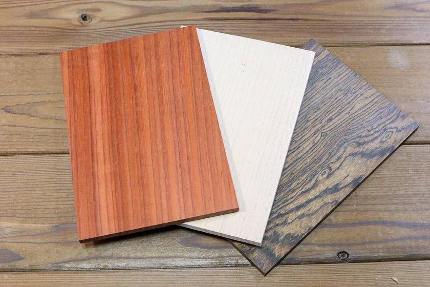 パドック、ブナ、リオグランデパリサンダーの木材