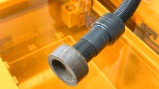 Etcher Laserの排気口用アダプタの自作