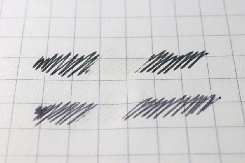 インクの濃さの違い