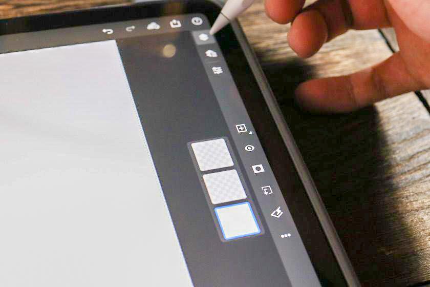 iPad版Photoshopタスクバー
