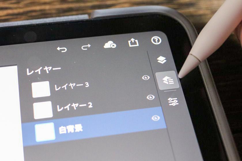 iPad版Photoshopレイヤーパネルの詳細