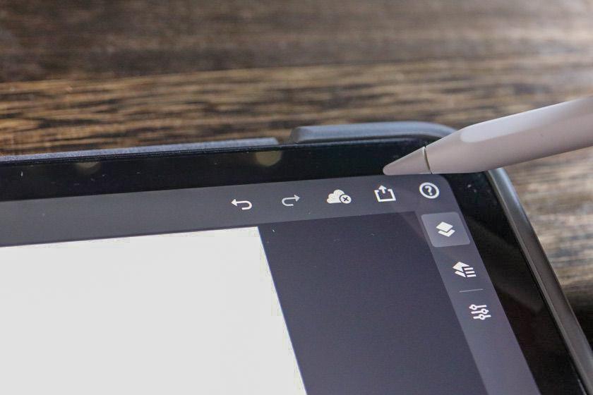 iPad版Photoshopのヘッダーバー