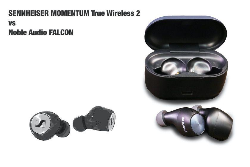 SENNHEISER MOMENTUM True Wireless 2 と Noble Audio FALCON 比較